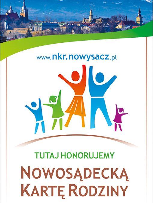 Jesteśmy partnerem programu Nowosądecka Karta Rodziny.